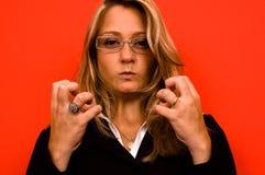 kobieta irated Zdjęcie Royalty Free