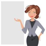 kobieta jednostek gospodarczych również zwrócić corel ilustracji wektora Fotografia Royalty Free