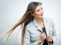 kobieta jednostek gospodarczych Włosy w ruchu Obrazy Stock
