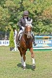 Kobieta jedzie konia. Zdjęcia Stock