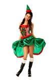 Kobieta jest ubranym elfa odziewa Zdjęcie Stock