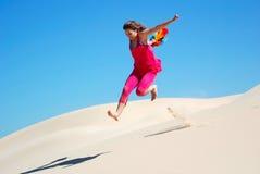 kobieta jumping Zdjęcie Royalty Free