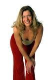 kobieta kamera piękni uśmiechy Fotografia Stock