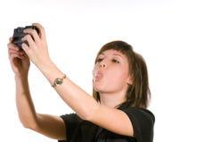 kobieta kamery Obrazy Royalty Free