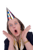 kobieta kapelusz na imprezę Obraz Royalty Free
