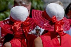 Kobieta kapelusze na dziewczynach obraz royalty free