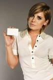 kobieta karty Fotografia Royalty Free