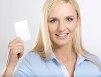 kobieta karty Zdjęcia Stock