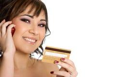 kobieta karty kredytowej Zdjęcie Stock