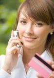 kobieta karty kredytowej Obraz Royalty Free