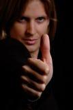 kobieta kciuk. Zdjęcie Royalty Free