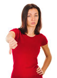 Kobieta kciuki zestrzelają zdjęcie royalty free