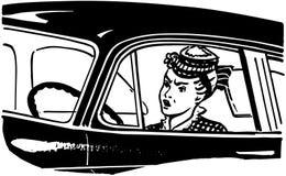 Kobieta kierowca Fotografia Royalty Free