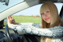 kobieta kierowcy Obrazy Stock