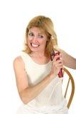 kobieta kołtuniasta curling włosy Obrazy Stock