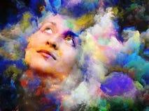 Kobieta kolor fotografia royalty free