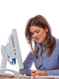 Kobieta konsultant zdjęcie stock
