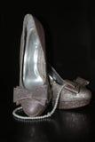 kobieta koraliki i buty Zdjęcie Stock