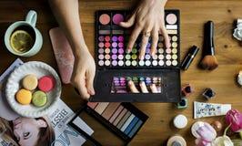 Kobieta kosmetyków Makeup piękno Kobiecy Zdjęcie Stock