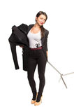 Kobieta krawczyna trzyma dalej Mannequin Zdjęcia Royalty Free