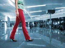 Kobieta krok Fotografia Stock