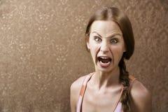 kobieta krzyczała Fotografia Royalty Free