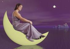 kobieta księżyca zdjęcie stock
