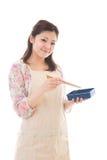 Kobieta która gotuje lunch Obraz Royalty Free