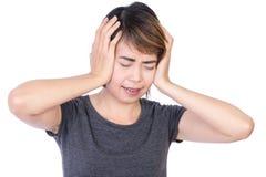 Kobieta która migrenę obrazy stock