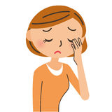 Kobieta którego od zmęczeni są oczy Obraz Stock