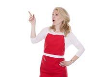 Kobieta kucharz w fartuchu fotografia stock