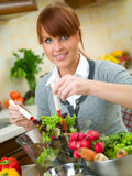 kobieta kuchennych obraz royalty free