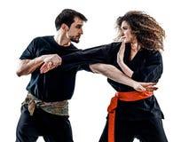 Kobieta Kung Fu Pencak Silat odizolowywał Zdjęcie Royalty Free