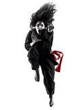 Kobieta Kung Fu Pencak Silat odizolowywał Obrazy Royalty Free