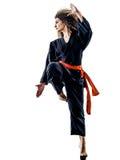 Kobieta Kung Fu Pencak Silat odizolowywał Zdjęcie Stock