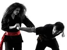 Kobieta Kung Fu Pencak Silat odizolowywa? obraz stock