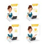 Kobieta kupuje odzieżowego Proces kupienie towary przez interneta dof ręce karty ogniska płytki zakupy online bardzo Rewizja, roz ilustracji