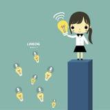 Kobieta lider dzieli pomysł ilustracji