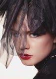 Kobieta luksusowy portret. zdjęcia stock