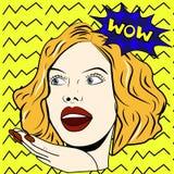 Kobieta mówi no! no! kobiety kobieta zdziwiona Wystrzał sztuki dziewczyna royalty ilustracja