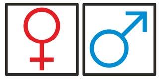 Kobieta, mężczyzna, dziewczyna, chłopiec, kobieta i samiec, podpisujemy Zdjęcie Royalty Free