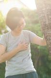 Kobieta ma ataka serca Zdjęcie Stock