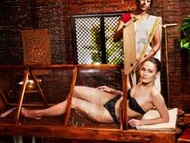 Kobieta ma Ayurveda sauna. Obraz Stock