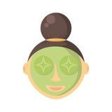 kobieta maskowa facial Zdjęcie Stock