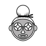 kobieta maskowa facial Obraz Stock