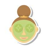 kobieta maskowa facial Obrazy Stock