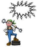 Kobieta mechanic-100 Obraz Royalty Free