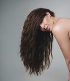 Kobieta model z piękny długie włosy zdjęcie royalty free