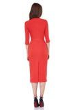 Kobieta modela mody stylu sukni piękna sekretarka dyplomatyczny p Zdjęcia Royalty Free