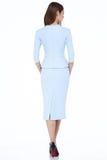 Kobieta modela mody stylu sukni piękna sekretarka dyplomatyczny p Zdjęcie Royalty Free